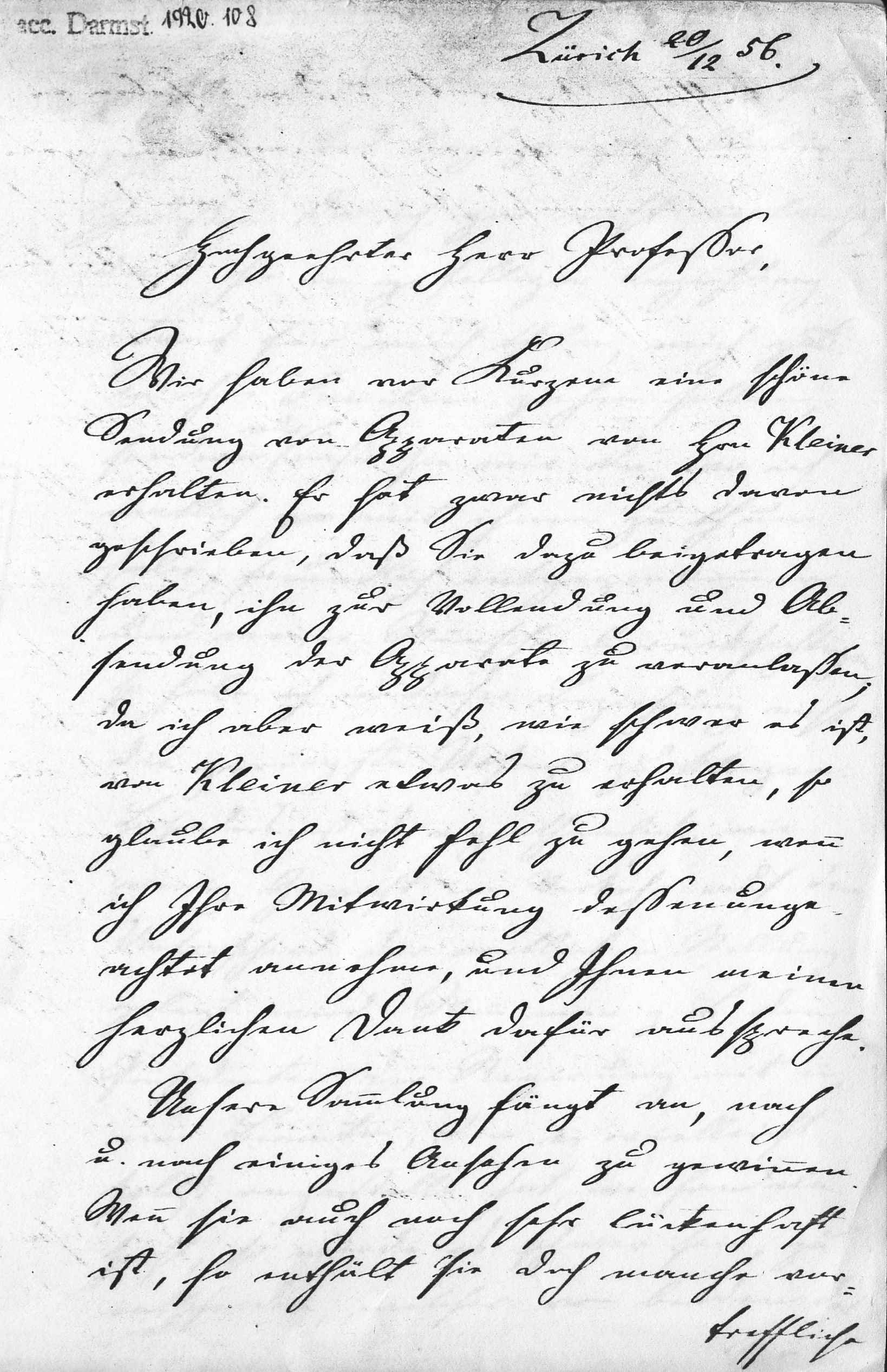 First page of the above letter to Magnus
